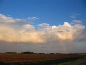 A rainbow after the storm.