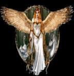 angel with golden wings