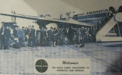 Notice the shirts/ties, dresses/pumps, and the Pan Am propeller plane, which took off from Idlewild (now JFK) Airport
