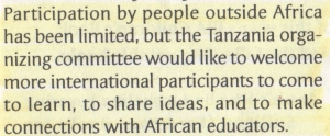 04 Tanzanian organizers welcome internationals