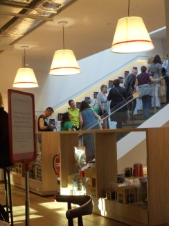 Staircase in Foyles in London