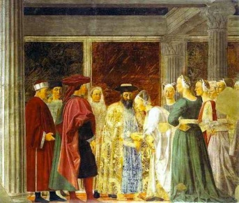 Queen of Sheba Meeting with Solomon, from The Legend of the True Cross Photo courtesy of Wikimedia Commons