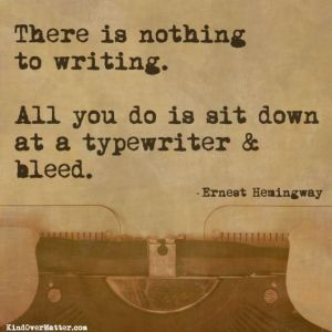 hemingway quote for are you book-worthy