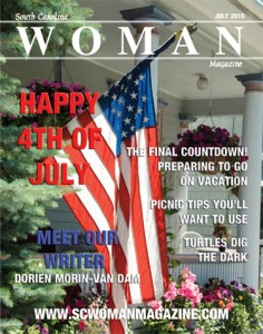 July Issue of WOMAN with my article listed on cover.