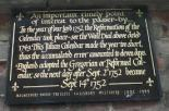1752 calendar reset