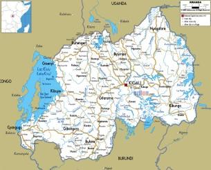 road-map-of-Rwanda
