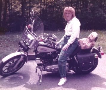 Young me on Bob's bike