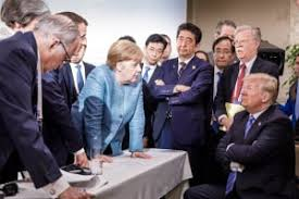 Trump folded arms